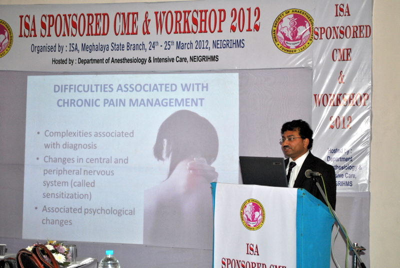 Dr Debjyoti Dutta Delevering Lecture on Chronic Pain Management At Shilong NEGRI